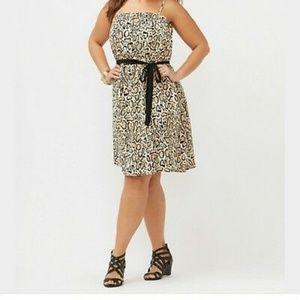Lane Bryant Leopard Print Keyhole Dress